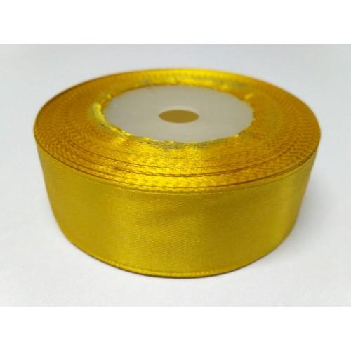 Лента атласная золотая