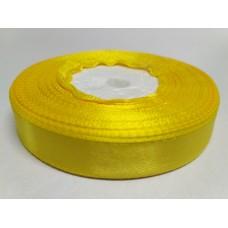 Лента атласная желтая