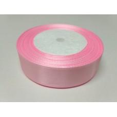 Лента атласная розовая