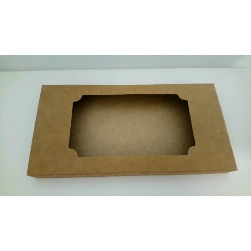 Коробка для плитки шоколада крафт 2, 160*80*15