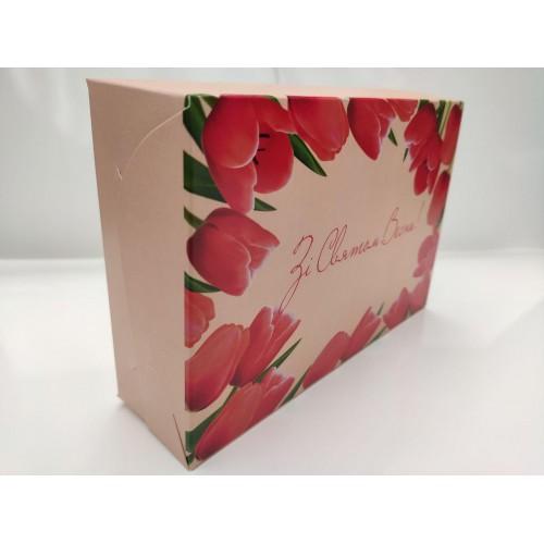 """Коробка """"Зі святом весни"""" для эклеров, 225*150*60"""