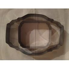 Вырубка для печенья металлическая (каттеры) 2шт