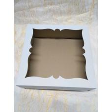 Коробка для торта, пирога с окном.Размер 300*300*110 мм.
