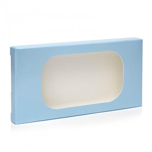 """Коробка для плитки шоколада """"Голубая 1"""", 160*80*15"""