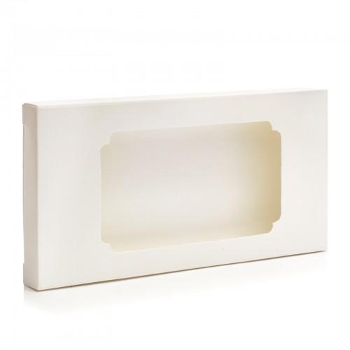 Коробка для плитки шоколада белая 3, 160*80*15