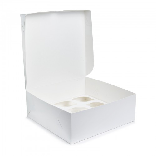 Картонная коробка на 9 капкейков. Размер 240*250*90