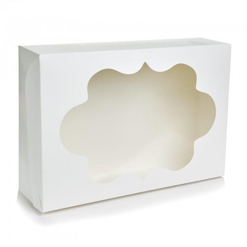 Коробка для 12 капкейков с окошком. Размер 354*241*90