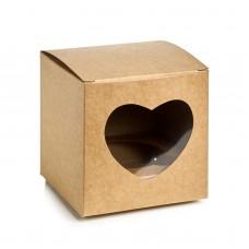 Коробка из крафта,на 1 капкейк с окошком,размер 90*90*90.