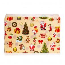 """Коробка для эклеров """"Новогодняя"""", 150*225*60"""