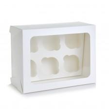 Коробка на 6 капкейков с окошком, 180*240*90