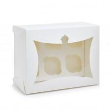 Коробка на 6 капкейков с окошком, 240*180*110