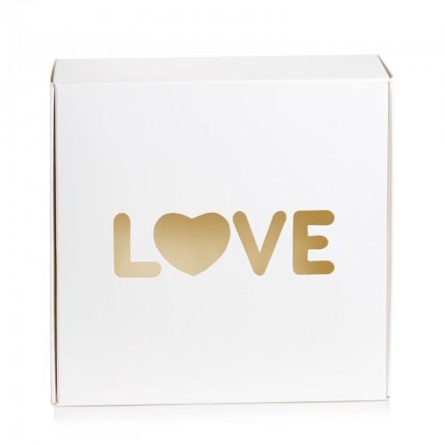 """Коробка """"LOVE"""" для пряников, макаронс, бижутерии. Размер 150*150*50"""