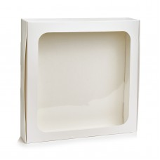 Коробка для макарон на 24 шт с окошком. Размер 200*200*50
