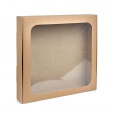 Коробка из крафта для макаронс, пряников, текстиля, 300*300*55