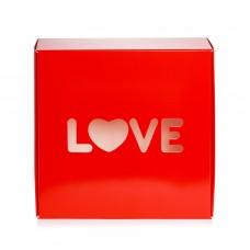 """Коробка для пряников, макаронс """"Love"""" красная, 150*150*50"""