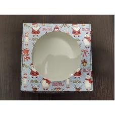 """Коробка для пряников """"Санта"""" с круглым окном, 150*150*50"""
