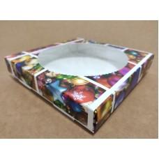"""Коробка для пряников """"Новогодние игрушки"""" с окном, 150*150*35"""