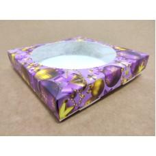 """Коробка для пряников """"Новогодняя сиреневая"""" с окном, 150*150*35"""