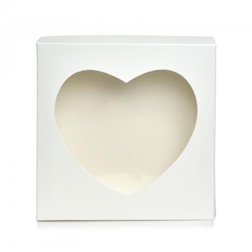 Коробка для пряника,конфет,бижутерии.Размер 200*200*35 мм.,с окошком-сердце