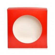 """Коробка для пряников """"Круг"""" красная, 200*200*35"""