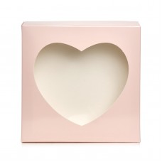 """Коробка для пряников """"Сердце"""" пудра, 200*200*35"""