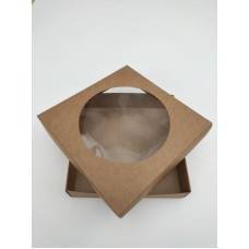 Коробка для пряников крафт, 150*150*30