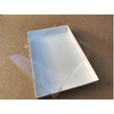 Коробка для пряников с прозрачной крышкой (пластик), 200*300*30