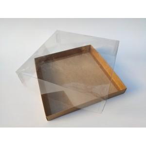 """Коробка """"Аквариум"""" для калача, крафт, 250*250*70"""