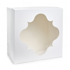 Картонная упаковка для торта с окном, 300*300*150