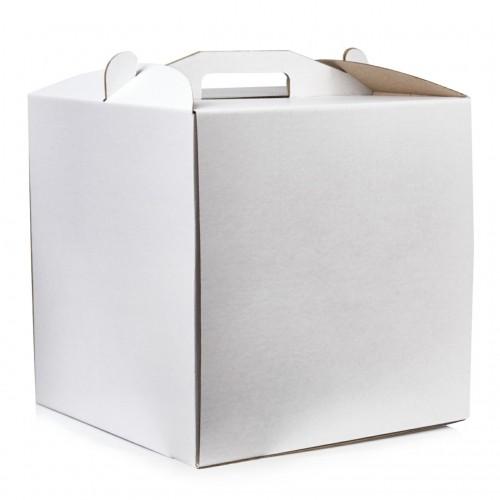 Коробка для торта Lovepak из микрогофры, размер 400*400*300