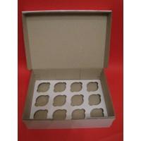 Коробка из микрогофры для 12 капкейков. Размер 350*250*110 мм.