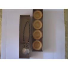 Картонная коробка (крафт) с прозрачной крышкой,размер 300*70*30